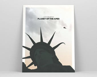 Planet of the Apes ~ Movie Poster, Film Gift, Art Print by Christopher Conner