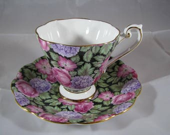 Vintage Royal Standard Fine Bone China Cup & Saucer made in England