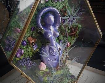 Nature Goddess   Wiccan Goddess   Pagan Goddess   Goddess Statue    Terrarium   Garden