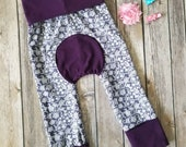 Maxaloones ~ Girls Purple Lace Grow With Me Pants ~ Toddler Lace Pants