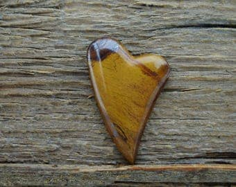 Tiger Eye Heart Cabochon