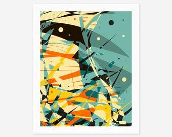 ORIGINS (Giclée Fine art Print) Modern Abstract, Psychedelic Wall Art
