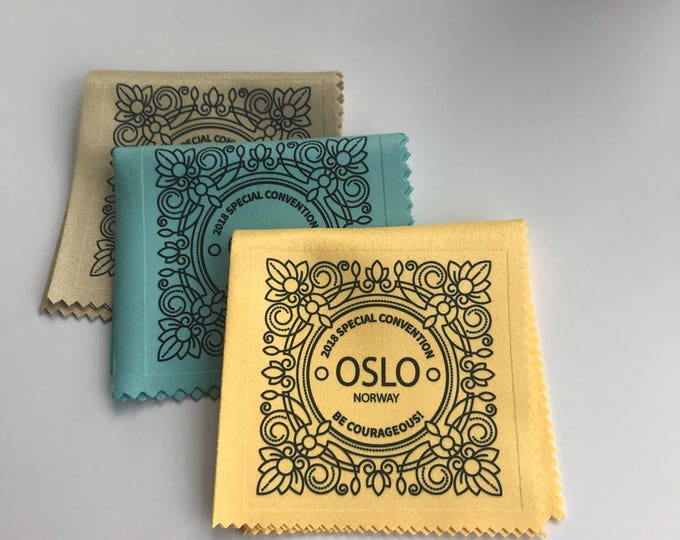 Featured listing image: Handmade Assorted Monogram Style 2018 Special Convention Gift Lens Cloth - Oslo