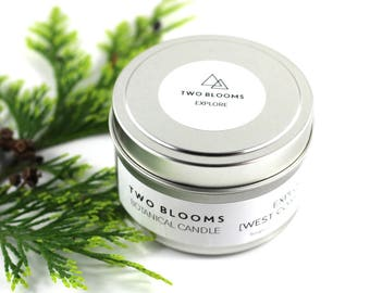 Soy Wax Candle, fir candle, forest candle, Victoria BC