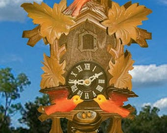 CCMC* Moving Birds Nesting Cuckoo clock #10