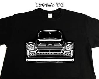 1959 Chevy Truck, Apache, Cameo, Fleetside, 3100 Pickup, Chevy Truck. T-Shirt