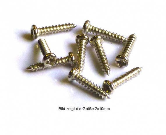 Fillister Head screw 1.2 x 6 mm, nickel plated steel, MS 7981126 for the Doll House, dollhouse miniatures, Nativity scenes, miniatures, model construction