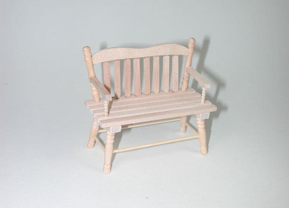 Bench, for the doll parlor, the doll's House, Dollhouse miniatures, cribs, miniatures, Model # v 23170
