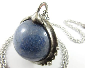 oracle - kyanite crystal ball necklace