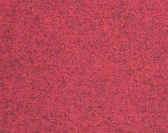 By the Yard Maharam Upholstery Fabric Kvadrat Divina Melange Wool Pomegranate 460830–531 (GW1)