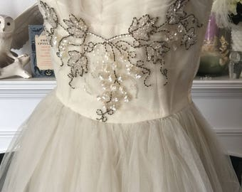 50s Embellished 50s Tulle Party Dress