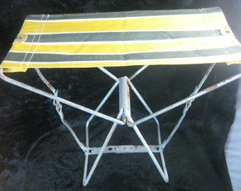 Vintage canvas folding chair & Vintage canvas tent | Etsy