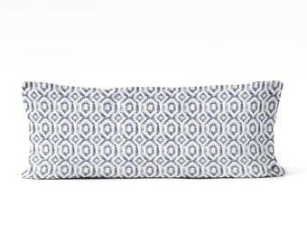 blue body pillow cover 20x54 inch geometric long pillow cover blue bedding