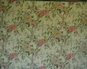 Vintage Duvet Cover, Full-Queen Bed Size, 2 Matching Shams, Floral Print, Fully Reversible, Multi-Color, 100% Cotton Linen Look Fabric