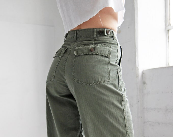 Olive Cotton Twill Fatigues