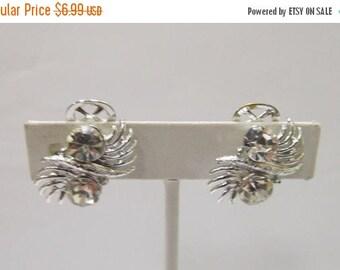 ON SALE Vintage Sparkling Rhinestone Earrings Item K # 1571