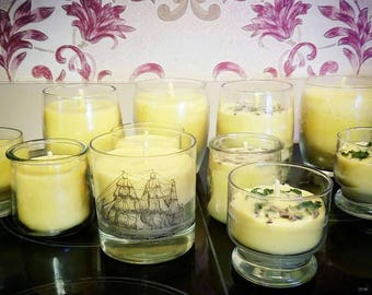 Unscented Pure Beeswax and Coconut Oil Ship Candle