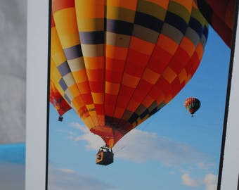 photo card, hot air balloon photograph