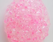 Fairy Wishes - Clear Glitter Slushie Slime 2 or 4 oz Neon Pink Star and Iridescent Glitter Slime Putty comes with extras