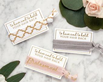 RESERVED FOR RACHEL x42 Bridesmaid Hair Ties, Bridesmaid Gifts, Hair Tie Party Favors, Bridesmaid Proposal, Elastic Hair Ties