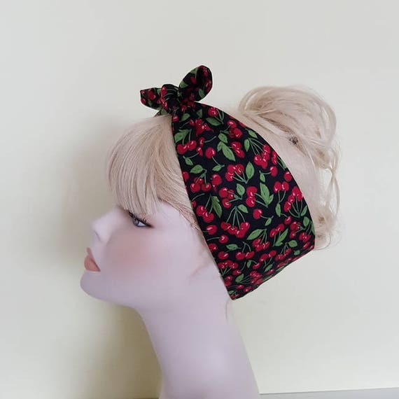 Vintage Hair Accessories: Combs, Headbands, Flowers, Scarf, Wigs cherry  50s style bandana rockabilly pin up psychobilly tattoo hairband headbandcherry  50s style bandana rockabilly pin up psychobilly tattoo hairband headband $4.01 AT vintagedancer.com