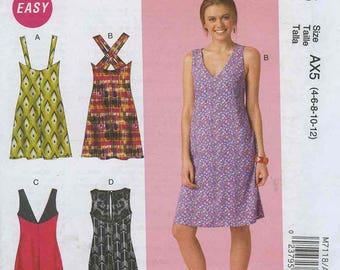 McCall's M7118 Dress Patterns Size AX5 (4-6-8-10-12)