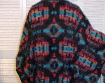"Poncho Men's/Unisex Fleece "" DARK MESA"""