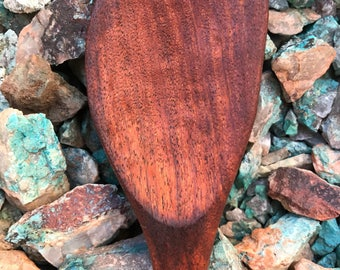 Handcrafted mesquite wooden spoon with inlay