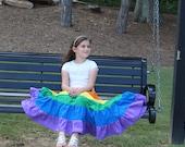 Size 10 girls Patchwork Rainbow Skirt