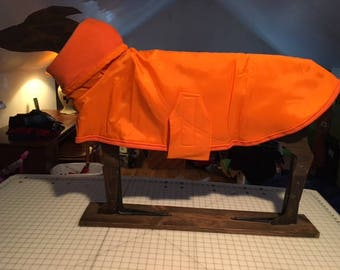 Greyhound water resistant nylon/fleece coat