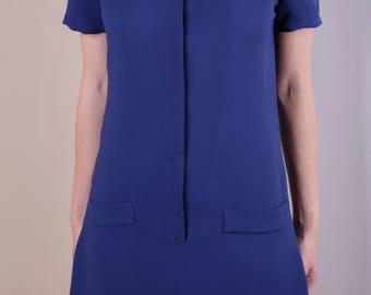 Short Sleeves Retro Shift Dress
