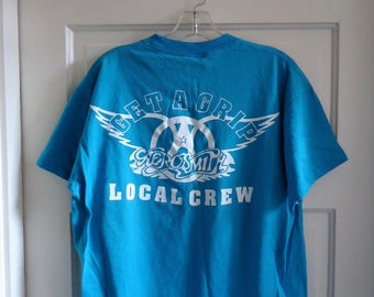 Vintage 80s AEROSMITH Get a Grip Tour CREW T Shirt sz M