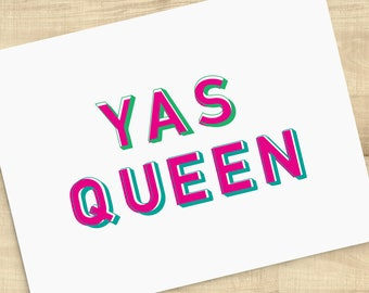YAS QUEEN, Broad City cards, Yas Queen, You are my Best Friend, Love Ya Bitch, blank inside