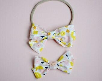 Daisy Piper bow headband or clip