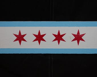 Chicago Flag Wall Decor