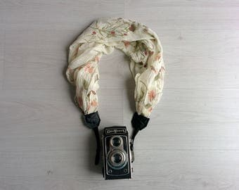 Camera strap scarf Camera scarf strap Scarf camera strap DSRL camera strap Photograph prop Floral camera strap Camera accessories SALE !!