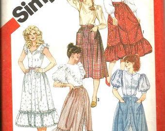 Simplicity 5790 uncut vintage size 12 womans skirt