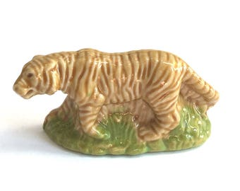 Wade Whimsie Whoppa: Tiger Figurine - 1976-81 - Wade Whimsies - Wade Figurines - Wade Whoppas - Wade Tiger - Whimsie Tiger - Wades