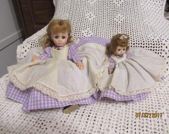 "Vintage Lovely Madame Alexander Dolls  "" Meg Little Women "" And "" Meg Alexander Kins """