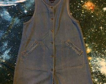 Vintage Blue J. Brand Ribbed Denim Short Summer Dress
