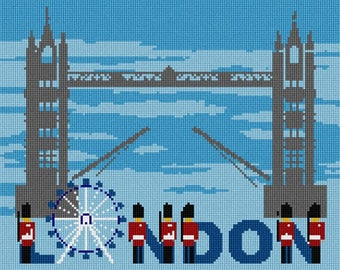 Needlepoint Kit or Canvas: From London