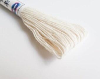 Sashiko Thread | 100% Cotton Japanese Thread for Sashiko, Big Stitch Quilting, Embroidery - OFF-WHITE (#2)