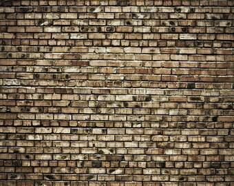 Raggedy Brick- Exclusive - Vinyl Photography Backdrop Floordrop Prop