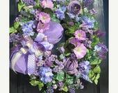 CIJ JULY SALE Summer Front Door Wreath, Summer Door Wreath, Spring Summer Wreath, Victorian Door Wreath, Summer Door Wreath, Luxury Wreath