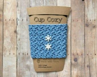 Coffee Cozy, Coffee Sleeve, Coffee Cup Cozy, Coffee Cup Sleeve, Reusable Cup Sleeve, Reusable Coffee Sleeve, Cup Cozy, Snowflake Cup Cozy