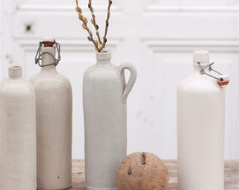 Stoneware Bottles (Neutral Grey)