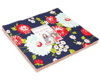 The GOOD LIFE -  Layer Cake - by Bonnnie & Camille for Moda - 55150 - Metro - Modern - Floral - Red - Navy