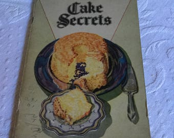 1928 Igleheart Brothers-Swans Down Cake Secrets-Recipes Book/Booklet