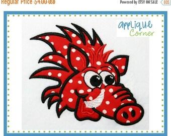40% OFF 032 Wild Boar Razorback applique digital design for embroidery machine by Applique Corner