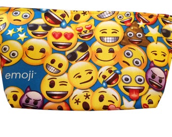 "Wedge ""Emoji Party"" Cosmetic/Accessory Bag"